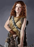 Ygritte (Rose Leslie) painting by Psichodelic