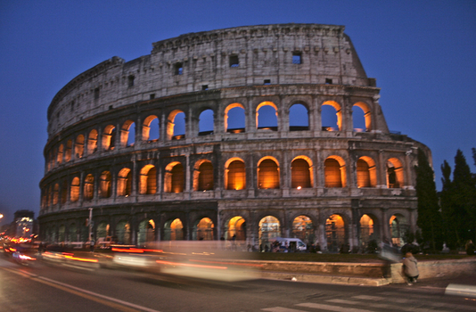 Colosseum at Night by rorymac666