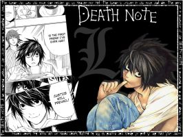 Death note L wallpaper by Rose-Coloured-Bullet