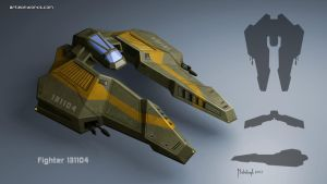 spaceship fighter concept by dm3da