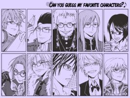 guess my favorite characters? by Dewitrika