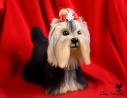 Needle Felted Yorkshire Terrier Molly by KittenBlackUA