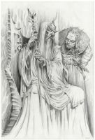 Saruman and Grima by firatsolhan