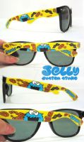 Cookie Monster Sunglasses by PoppinCustomArt