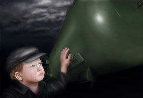 The Little Boy, 1945 by mark7th