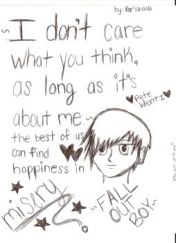 Fall Out Boy-I Don't care by Xariana16