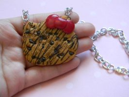 Hello Kitty Cookie Necklace-Chocolate Chip by ThePetiteShop