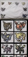 Pokemon Eeveelutions Pillow (for sale) by blackphantom1412