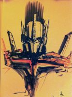 Cybertron Con - Optimus Prime Sketch by Desoluz