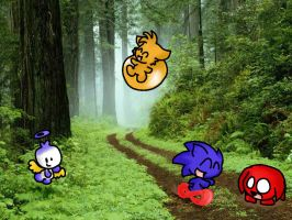 Chibis in the forest by LeniProduction