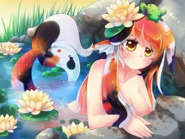 Koi Mermaid by lilnevie