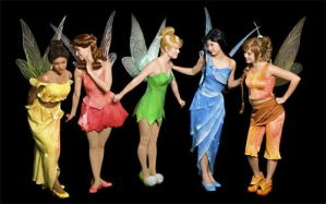 Disney Fairies take one by junkyardpicasso