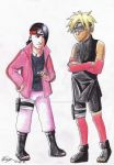 Boruto and Sarada swap by tomboyish1dragon