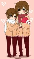 .:Spain x Romano - Valentine:. by Kyoji-No
