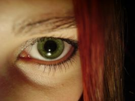 Green eye by LadybirdM