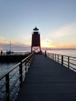 Sunset at Charlevoix - Michigan by machine-city