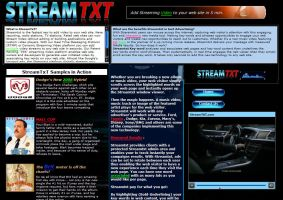 StreamTXT Website by PatrickJoseph