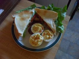 Toasted Bacon Lettuce Tomato with Deviled Eggs by Miss-Merlina