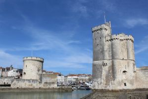 towers of La Rochelle by betteporter