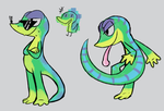 some geckos to calm me nerves by Scarfity