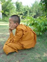 portrait of a novice monk. 2b by Tua