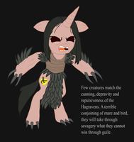 Ponified Skyrim loading screen: Hagraven by glue123