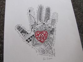 Hand print - Liam by DragonflysDaughter