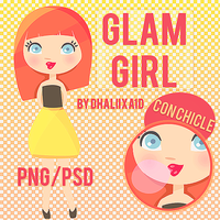 Glam Girl .PSD/.PNG by Dhaliixa1D