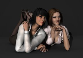 Amanda and Ciara - Studio Shoot 2 by Torqual3D