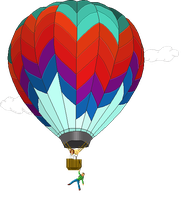 Pixel Hot Air Balloon by XFak7oR