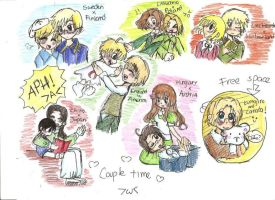 APH: Love around the world by freaky-anime-doodler