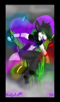 Wolfys Neon Rave by whitewolfspup