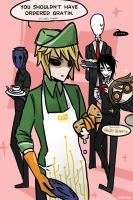 DISH WASHER : Ben Drowned in Cafe by Alloween