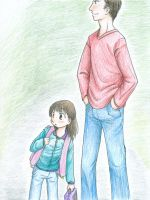 classwork: waiting for the bus by Kaede-chama