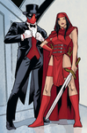 Deadpool and Elektra in Thunderbolts Annual #1 by comuto-sama
