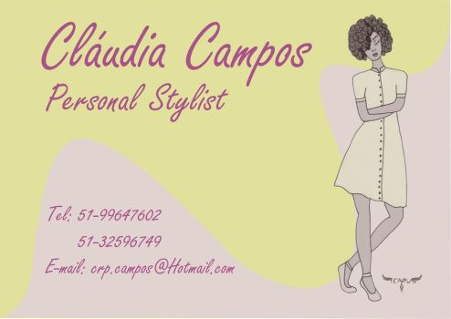 Claudia Campos Personal Stylist - Business Card by elchavoman