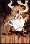 Coffee cup dragon by Enijoi