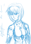 Sketch: Rei Ayanami by detolefu
