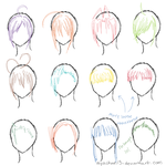 Hair Ref - 12 Bangs by MyaChan13