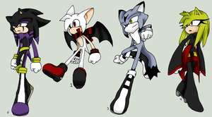 My Sonic Characters by DeepestSilence