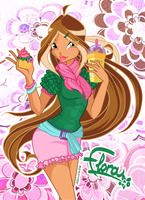 Flora of Winx Cafe style by alamisterra