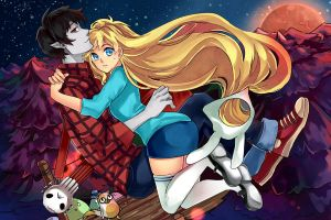 Marshall Lee y Fionna - Speedpaint by EryenArt