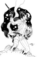 Leia Organa - Inks by J-Skipper