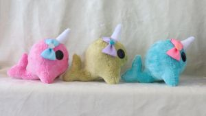 3 Little Narwhals by WhimzicalWhizkerz