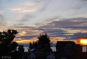 Colourful Scottish Sunset by Rhiallom