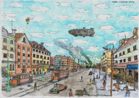 A hundred years ago coloured by mikopol
