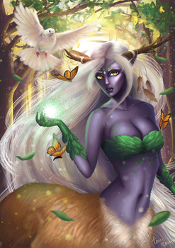 Earthern elf done for Sakimichan Elemental Art con by ShinkuMourna