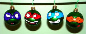 TMNT Ornaments - The Whole Mini Green Gang by DayandNight90