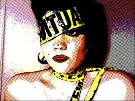 Lady Gaga Caution Tape 12 by TimeLordmk