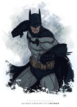 Batman Arkham City - Batman by BrokenNoah